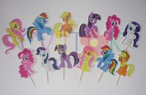 toperi za mafine moj mali poni, stapici za cake pops na temu moj mali poni, my little pony cupcake