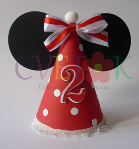 kapa sa usima mini maus, mini maus dekoracija za rodjendan