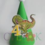 rodjendanske kape sa dinosurusom, slavljenicka kapa t rex, dekoracija za rodjendan dinosaurus, kape za rodjendan t rex