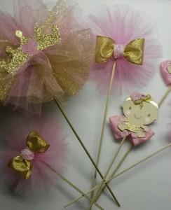 stapici sa krunom, dekoracija za sto, deciji rodjendan, kruna, princeza