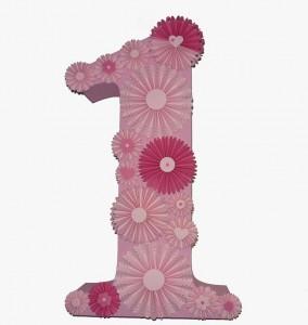 broj od stiropora, dekorativni broj za rodjendane