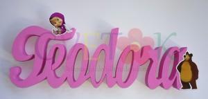 ime od stiropora na temu masa i medved, ime od stiropora za slatki sto, 3d ime kao dekoracija za rodjendan