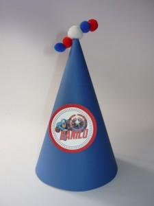 rodjendanska kapa kapetan amerika, kapa za rodjendan, avengers, dekoracija za rodjendan avengers