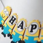 rođendanski natpisi, minions, malci, traka