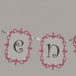 natpis sa imenom za rodjendane, baner sa imenom na temu princeza