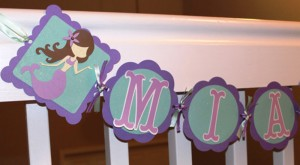 ime deteta, rođendan, dekoracija, mala sirena