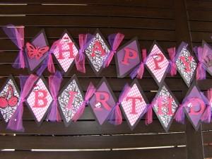 rođendanske trake, slova