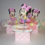 dekoracija za rodjendane na temu beba mini maus, dekorativni aranzman baby minnie mouse