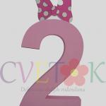 3d broj od stiropora, mini maus dekoracija za rodjendan