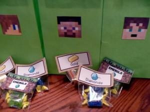 dekoracija dečijih rođendana, slatkiši, Minecraft