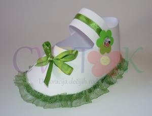 poklon kutije cipela, dekoracija za rodjenje deteta u obliku cipele za bebe