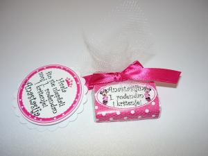 cokoladice za decije rodjendane mini maus pink, pokloni za decu cokolada sa posvetom