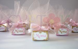 poklon cokoladice za rodjendane na temu princeza, cokolada sa imenom deteta u tilu