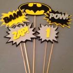 Dekoracija Batman, stapice batman za rodjendan