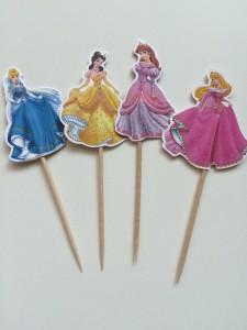 diznijeve princeze, toperi za kapkejk, arijel, pepeljuga, bel, uspavana lepotica