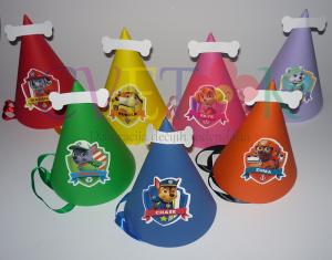 kape za rodjendan patrolne sape, rodjendanska dekoracija patrolne sape, patrolne sape kapice