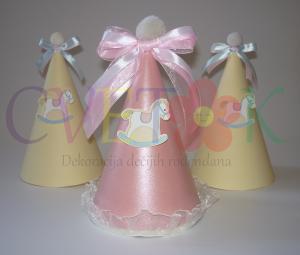 kapice za prvi rodjendan konjic, rodjendanske kape sa konjicem