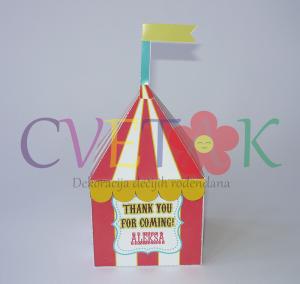 kutije za slatkise cirkus, poklon kutije na temu cirkus
