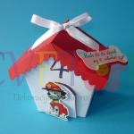 kutije za slatkise patrolne sape, kutija u obliku kucice na temu patrolne sape, patrolne sape kutija za rodjendan