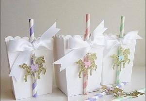 karusel kutije, dekoracija rodjendana kokice