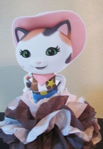 lutka od salveta serif kali, serif kali dekoacija rodjendana