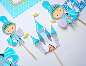 mali princ, vitez, dekoracija, deciji rodjendani, toper, kapkejk