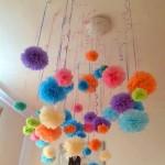 pompom, pomponi, ukrasavanje, rodjendanska dekoracija