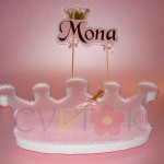 postolje za kolace u obliku krune, stalak za rodjendan princeze, dekoracija za slatki sto na temu princeza princess