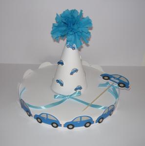 dekorativno postolje za kolace za deciji rodjendan, stalak sa auticima za decake