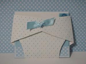 pozivnica pelena, cestitka za rodjenje deteta u obliku pelene