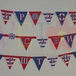 dekoracija za rodjendan mornar, natpis na temu more leto