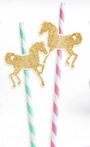 slamcice sa konjem, dekorativne slamke za rodjendan ringispil