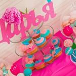 slatki sto roze, dekoracija rodjendana za devojcice