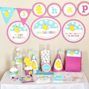 baby, deciji rodjendan, proslava, dekoracija, patkica