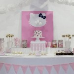 slatki sto hello kitty, rodjendanska dekoracija za devojcice