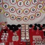 slatki sto mini maus, rodjendanska dekoracija minnie mouse, ukrasavanje stola za rodjendan devojcice
