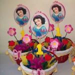 ukras za sto, dekoracija rodjendana, deciji rodjendan, snezana, snezana i sedam patuljaka, slika, lik na stapicu, stapici
