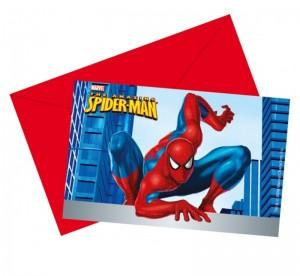 spiderman pozivnice, deciji rodjendani, pozivnice za rodjendan