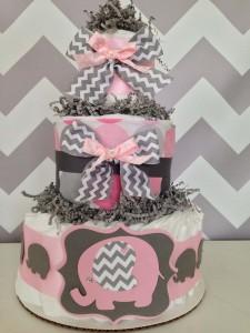dekoracija za rodjendan, torta, pelene