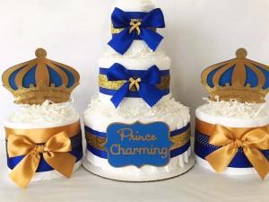 torta od pelena, babz shower, dekoracija