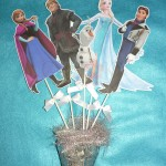 likovi na stapicu, stapici sa likovima, crtani frozen, dekoracija, deciji rodjendani