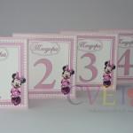 oznake za stolove mini maus, kartice za stolove kao dekoracija rodjendana