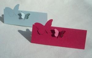 leptir, leptiri, kartice za sto, oznaka, stolovi, dekoracija