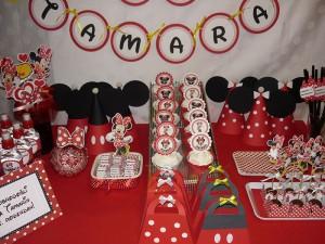 slatki sto, rodjendanska dekoracija, dekoracija rodjendana, deciji rodjendani, mini maus, sweet table