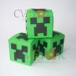 kutija minecraft za poklone, kutija u obliku kocke minecraft kao dekoracija rodjendana, poklon kutije minecraft za goste