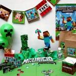 minecraft, deciji rodjendani, dekoracija rodjendana, igre, igrica, slatki sto