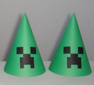 kapa, rodjendanske kape, minecraft, dekoracija rodendana, deca, creeper