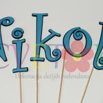 stapici za popse sa imenom deteta, natpis za tortu sa imenom