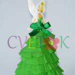papirna lutka zvoncica, dekoracija za slatki sto na temu petar pan, zvoncica dekoracija