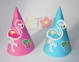 kapa flamingo, rođendanske kape na temu flamingo, kapice za rođendan flamingo